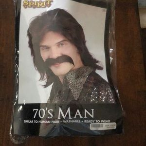 Brand New Spirit Men's 70's Hair Halloween Costume
